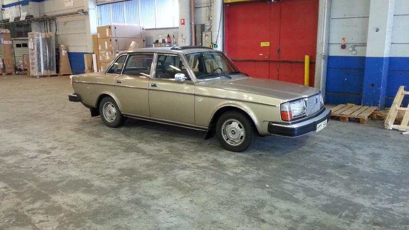 Här åker Volvon mot Tyskland